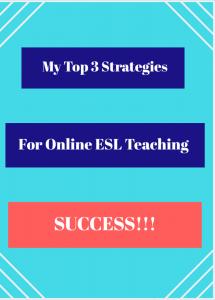 ESL Online Teaching Strategies